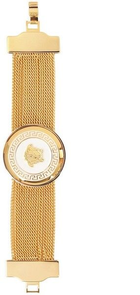 Versace Medusa Gold Plated Metal Chain Bracelet - Lyst