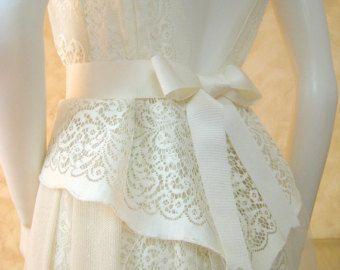 VENTA. Vestido de novia exclusivo encaje crema, vestido de Novia de encaje de Nottingham original, vestido de novia boho, playa vestido de Novia de encaje