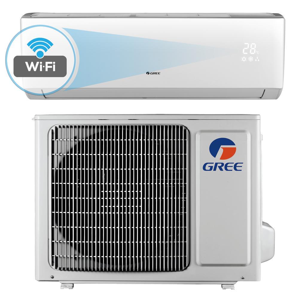 Gree Livo 9 000 Btu 3 4 Ton Wi Fi Programmable Ductless Mini Split