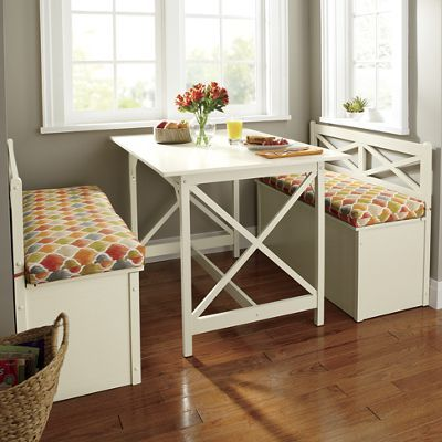 Cottage Dining Table Storage Bench And
