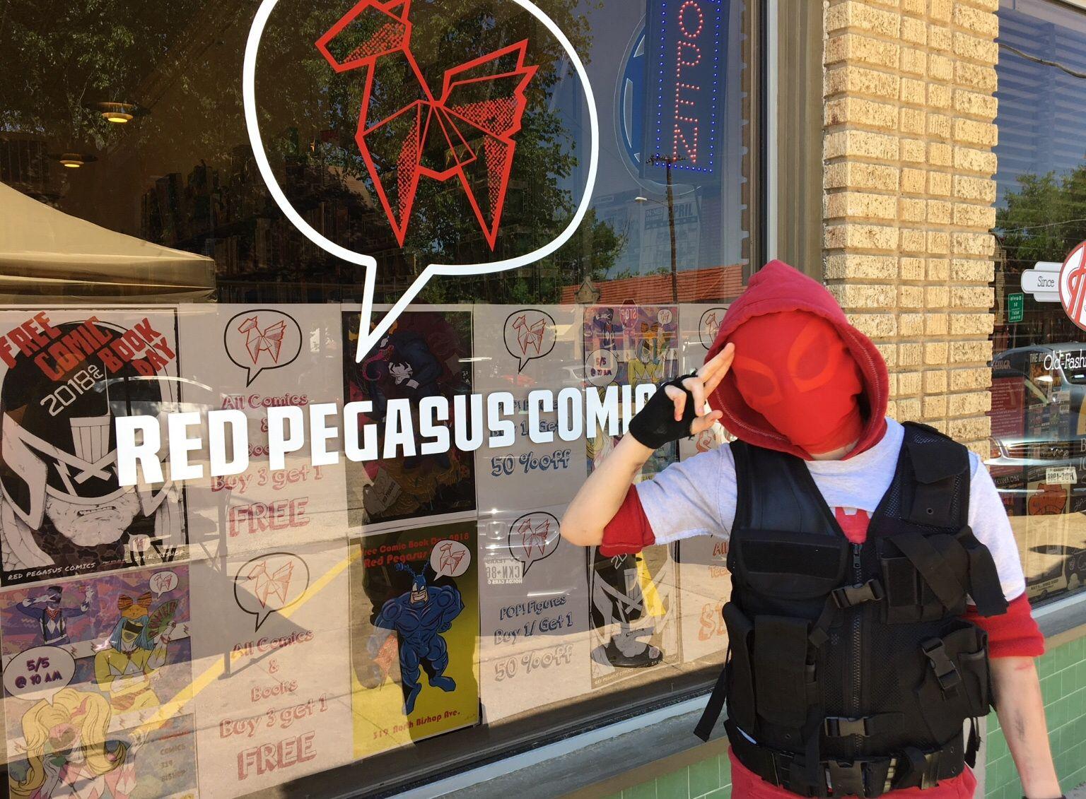 Custom Red Hood cosplay...kind of,RedCustom Red hood
