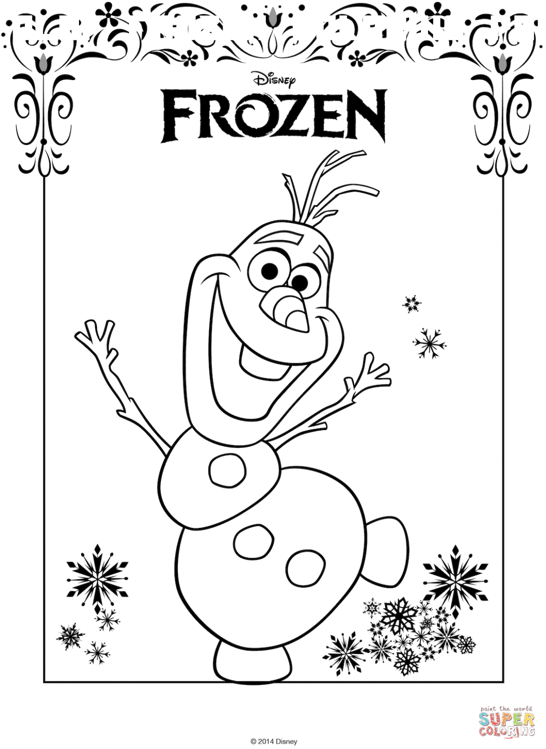 7 Olaf Frozen Coloring Pages In