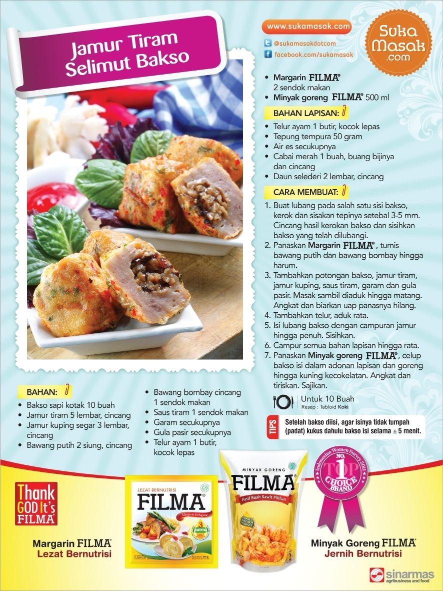 Resep Filma Filma Margarin Di Tabloid Koki Sponsored By Sukamasak Com Resep Jamur Jamur Resep