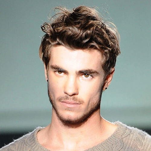 Men S Hair Styled Effortless Short Curly Wavy Forehead Showing
