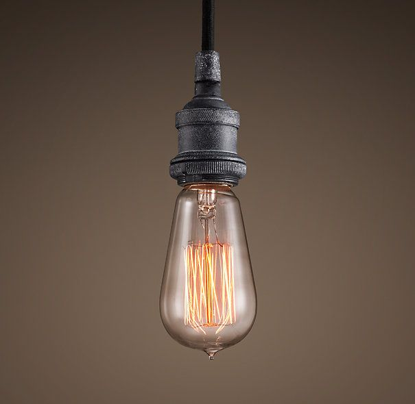 exposed bulb lighting. restoration hardware factory filament bare bulb single pendant light love these for an industrial exposed lighting