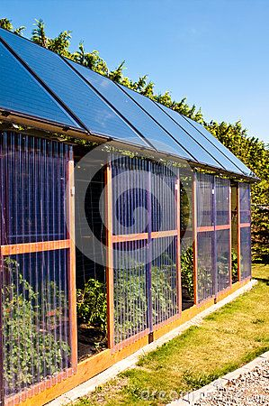 Eco Glass House With Solar Panels Stock Photo Image 73319843 Glass House Solar Panels Backyard