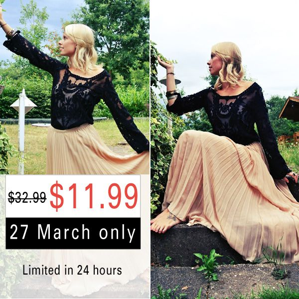 Black Lace Blouse -- Let's start dancing in spring