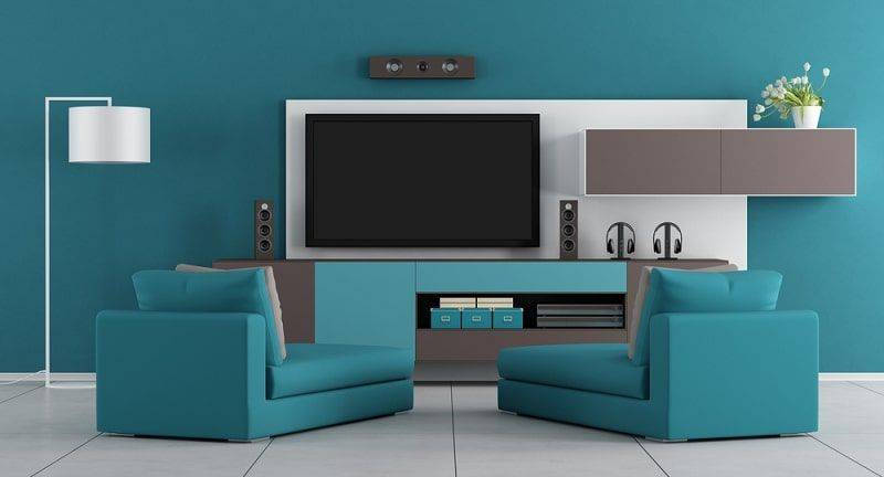 Home Blue Living Room Tv Cabinet Design Tv Stand And Wall Unit