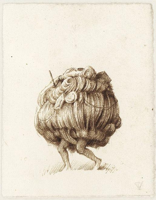 untitled, 2009, brown ink on paper, 11,2 x 8,9 cm - Tinus Vermeersch
