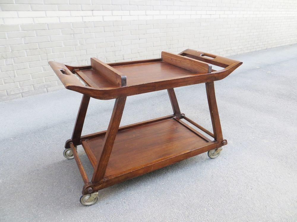 table desserte roulante ann es 30 art d co rolling table art d co furniture pinterest. Black Bedroom Furniture Sets. Home Design Ideas