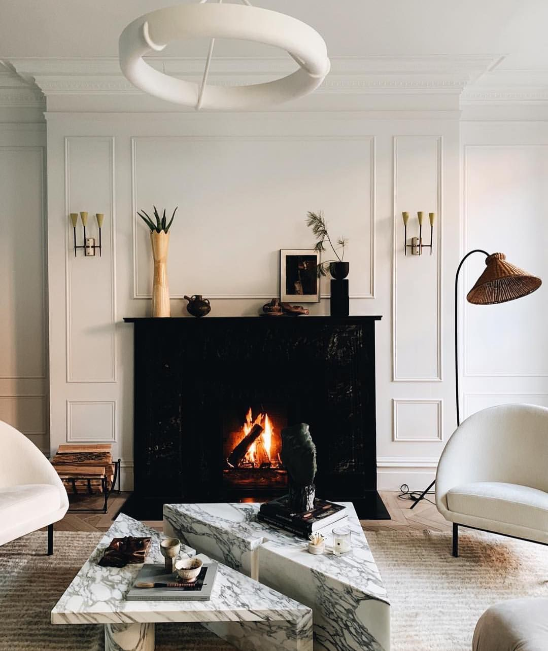 Marble Coffee Table Colinking Design By Eyeswoon Home Marble Tables Design Fireplace Built Ins [ 1284 x 1080 Pixel ]