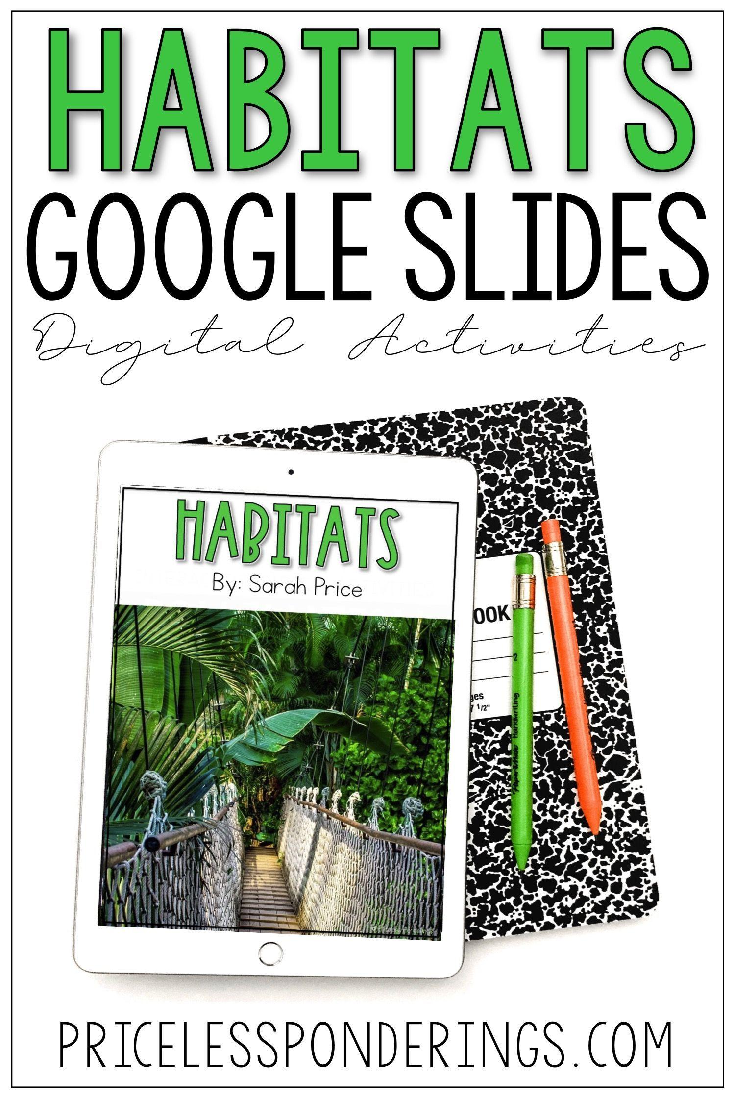 Habitats Activities For Google Slides Habitat Activities Distance Learning Middle School Science Experiments [ 2248 x 1498 Pixel ]