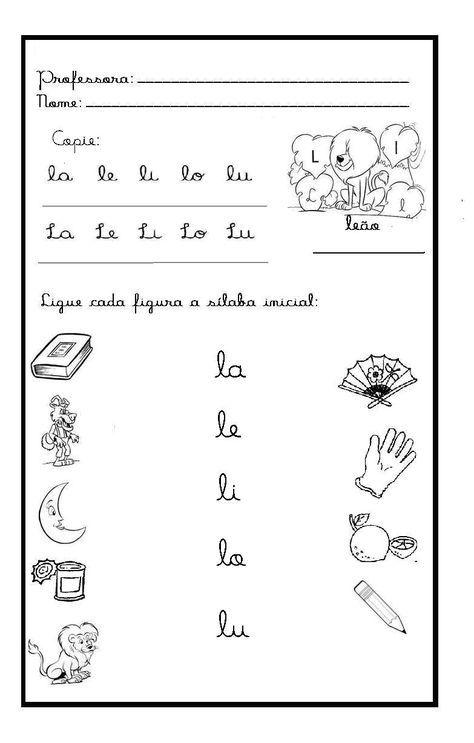 actividades letra l para imprimir - Buscar con Google | Fonema l ...