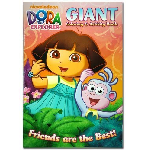 Dora The Explorer 11x16 Giant Coloring Activity Book 16 Pgs By Nickelodeon 4 48 Game Art Color Activities Book Activities