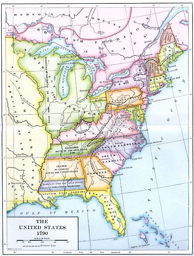 1790 Map Of United States.The Early United States 1790 History Maps Timelines Historical