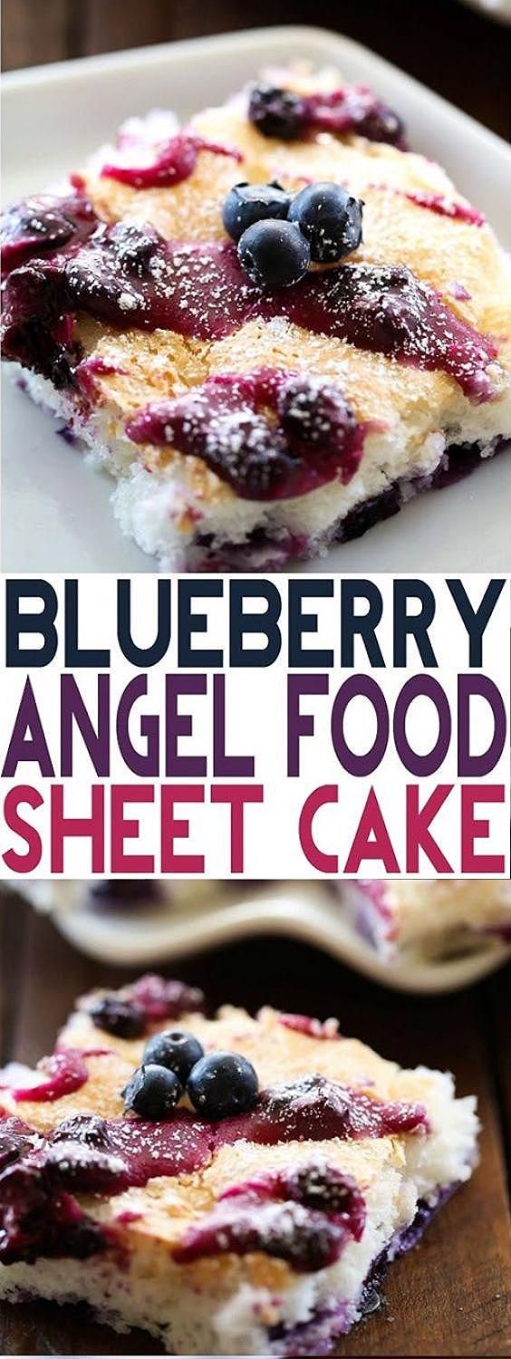 Photo of Blueberry Angel Food Sheet Cake