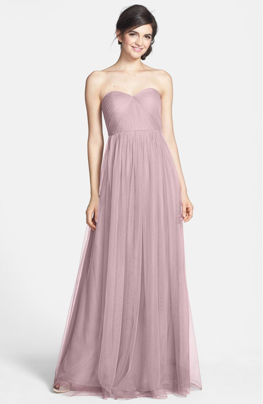 Jenny Yoo Annabelle Bridesmaid Convertible Tulle Dress Color Sweet Pea