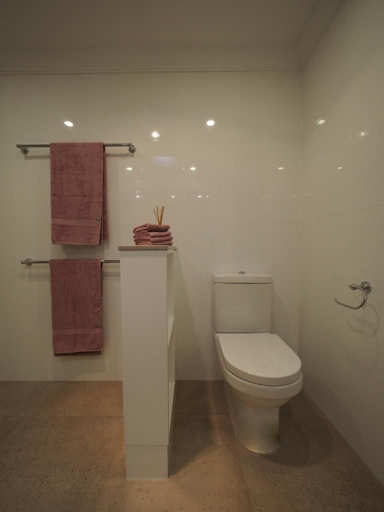 Bathroom renovations hornsby - Toilet Suite Concealed Behind Nib Wall And Shelves Auchenflower Bathroom Pinterest Toilet Suites Toilet And Shelves