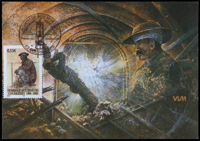 """Gedenken an das Grubenunglück in Courrieres"""" im Jahre 1906"""