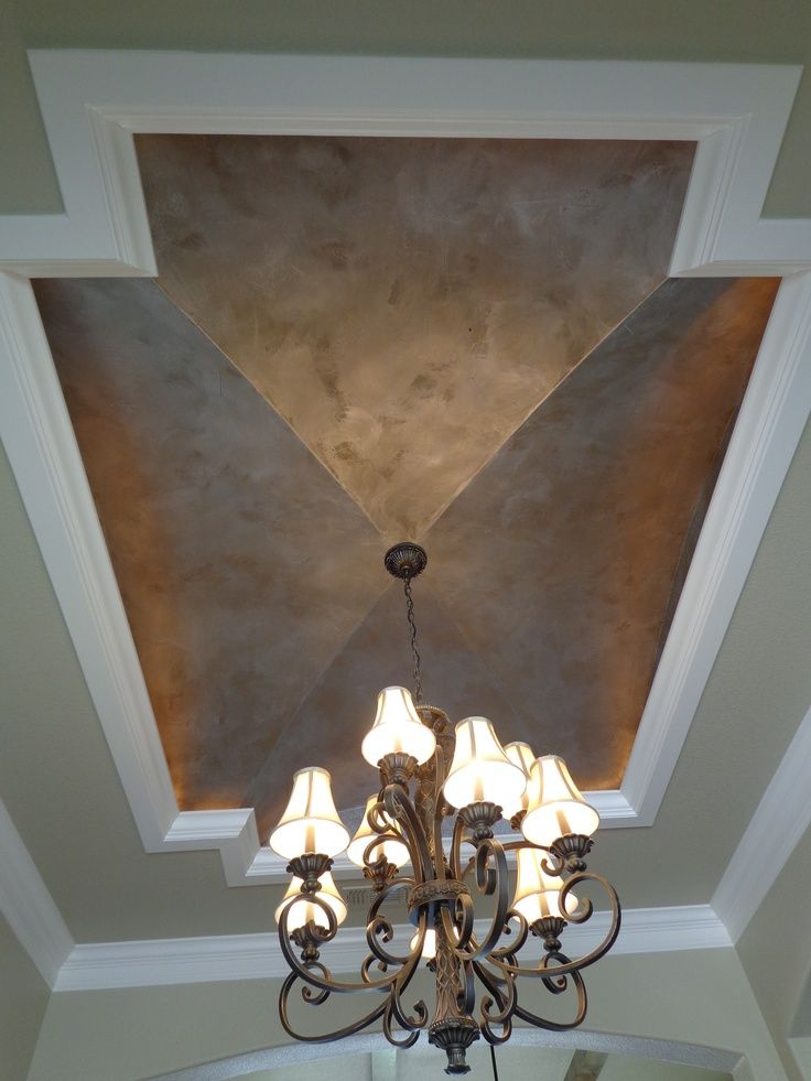 Modern Masters Silver Metallic Paint Ceiling By Peter Panagiotakakos Of European Faux Finishes In Texas Faux Painting Walls Faux Walls Metallic Paint