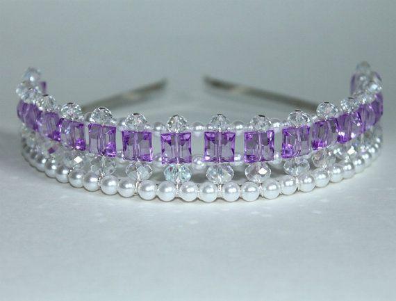 Pretty Purple Princess Tiara Flower Girl Birthday