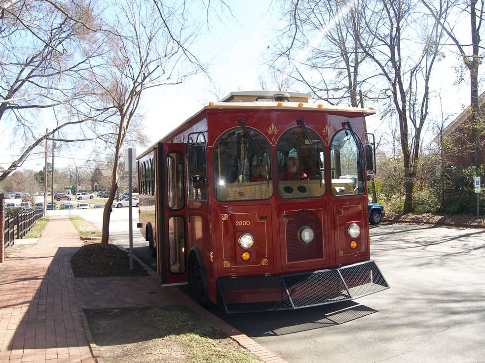 Say Hello to Dolly the RaleighNC Trolley Trolley Tours run on