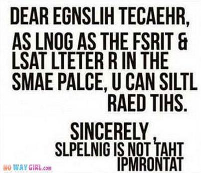 Anyone that is an english teacher?