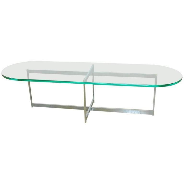 Mid Century Chrome And Glass Surfboard Cocktail Table Image 1 Of 7 Coffee Table Table Modernist Furniture
