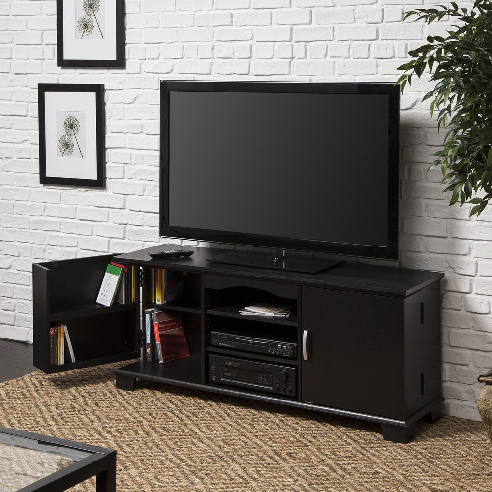 Walker Edison Black Wood 60 Inch Tv Stand Console 60 Inch Tvs