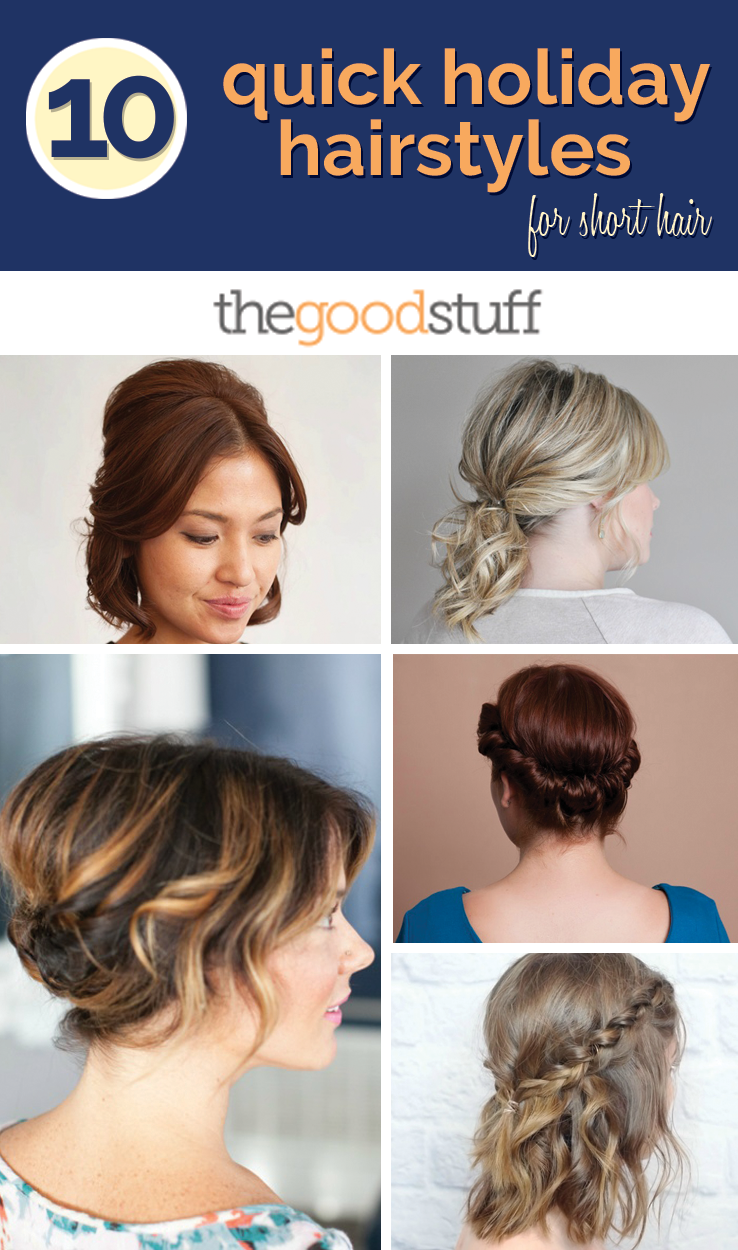 10 quick holiday hairstyles for short hair | short hair, hair