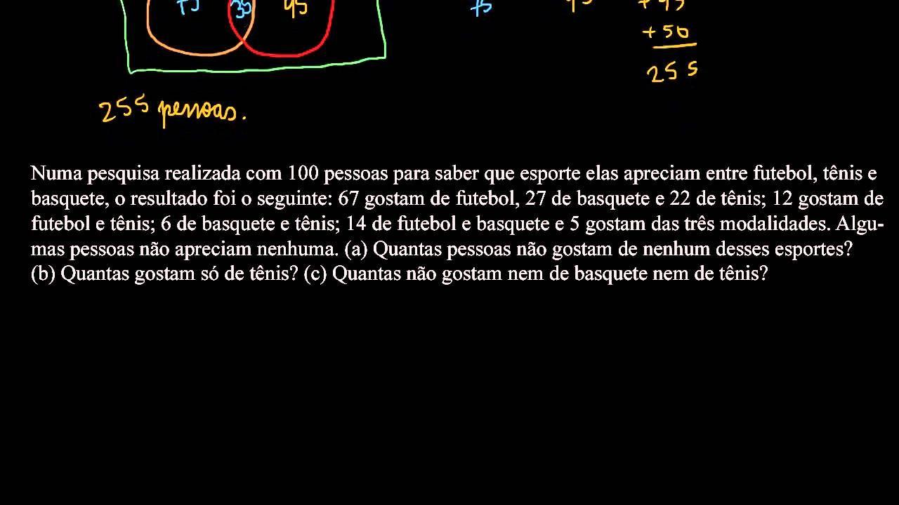 Problemas Envolvendo Conjuntos Ensino Medio Esporte Futebol