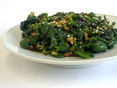 274. Spinach side dish, Shigumch'i namul - Recipe | Kits Chow