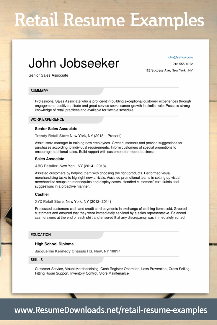 Retail Resume Examples Will This Rocket Your Career Path Retail Resume Examples Retail Resume Resume Examples