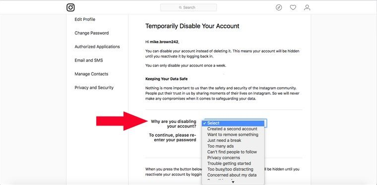 Here S How To Deactivate Or Permanently Delete Your Instagram Account How To Delete Instagram Deactivate Instagram Deactivate Instagram Account