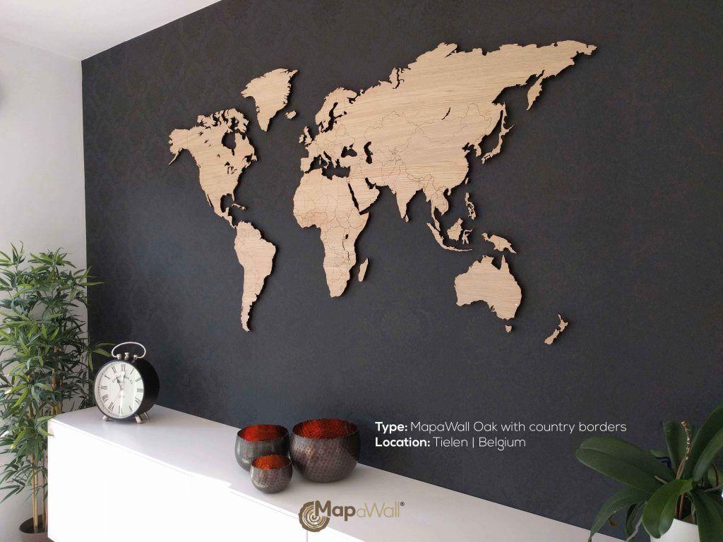 Eiken met landsgrenzen   Weltkarte und Garderoben