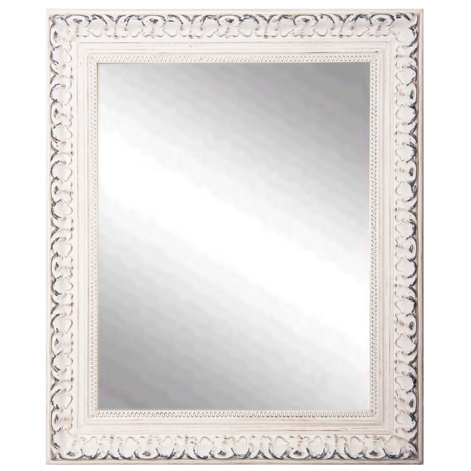 American Made Rayne French Victorian White Wall/ Vanity Mirror (26.5 ...