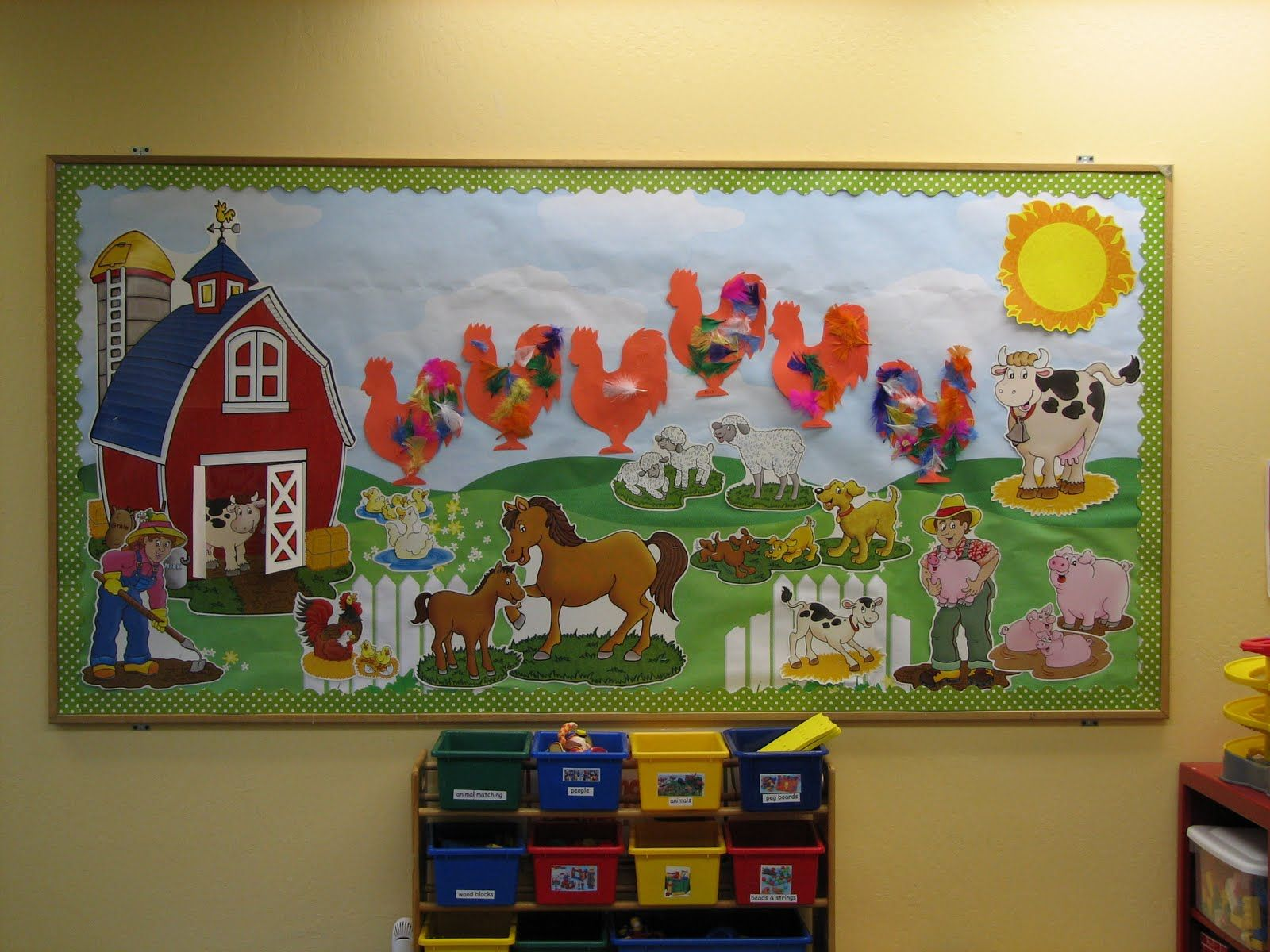 Preschool bulletin board ideas preschool ideas for 2 for Farm door ideas