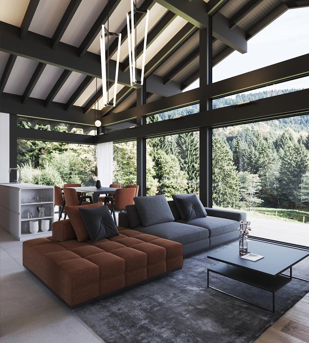 Design Only On Instagram One 100 House By Sergey Domogatskiy Ecocomplect Company Visu Budget Home Decorating Home Interior Design Interior Design Furniture