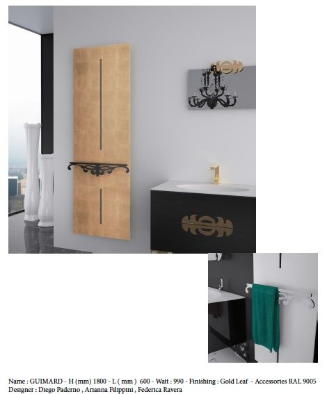 guimard dimension 1800x600mm puissance 990w partir. Black Bedroom Furniture Sets. Home Design Ideas