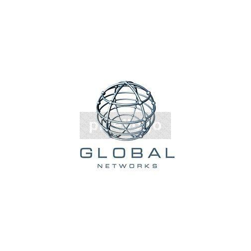 Wired Geometric Globe Logo 3D-234 | Globe logo, 3d logo and Logos
