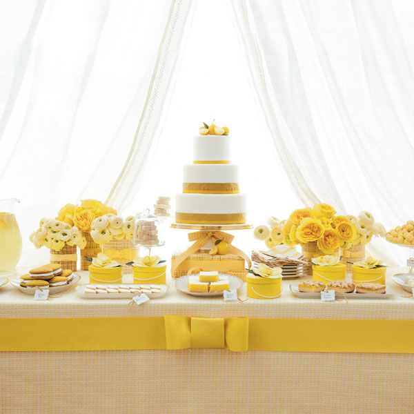 Create a Gorgeous Dessert Table | Dessert table, Yellow weddings and ...