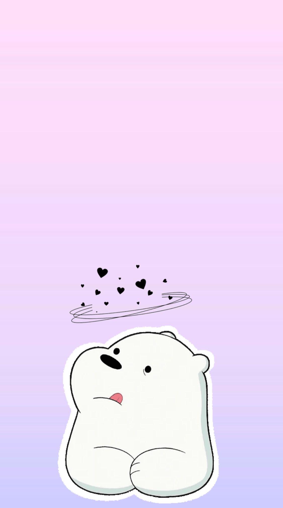 We Bare Bears Ice Bear Iphone Wallpaper Webearbears