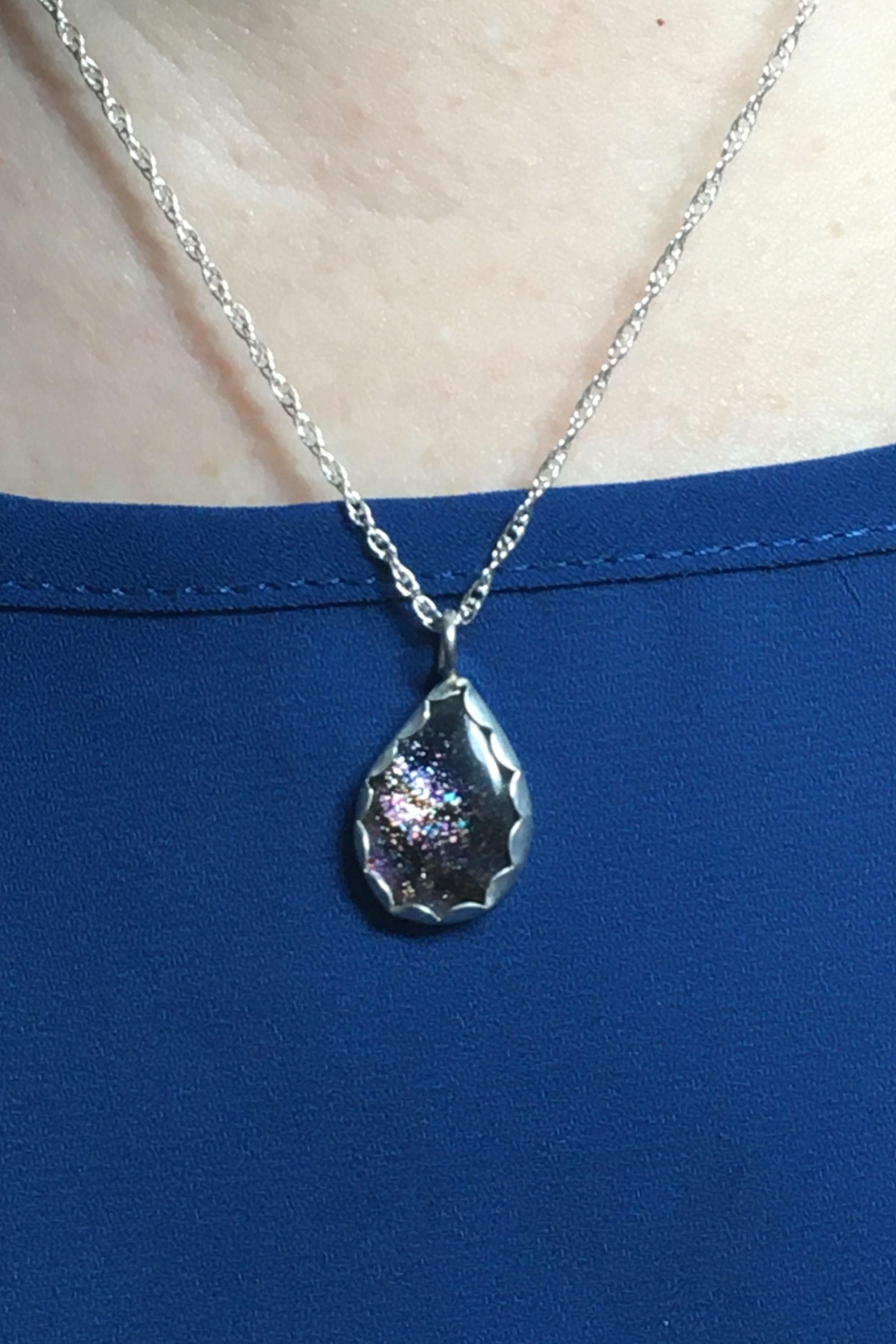 Sterling Silver Handmade Jewelry Pendant Women Jewelry Iolite jewelry Women Pendant Iolite Pendant Gift Her