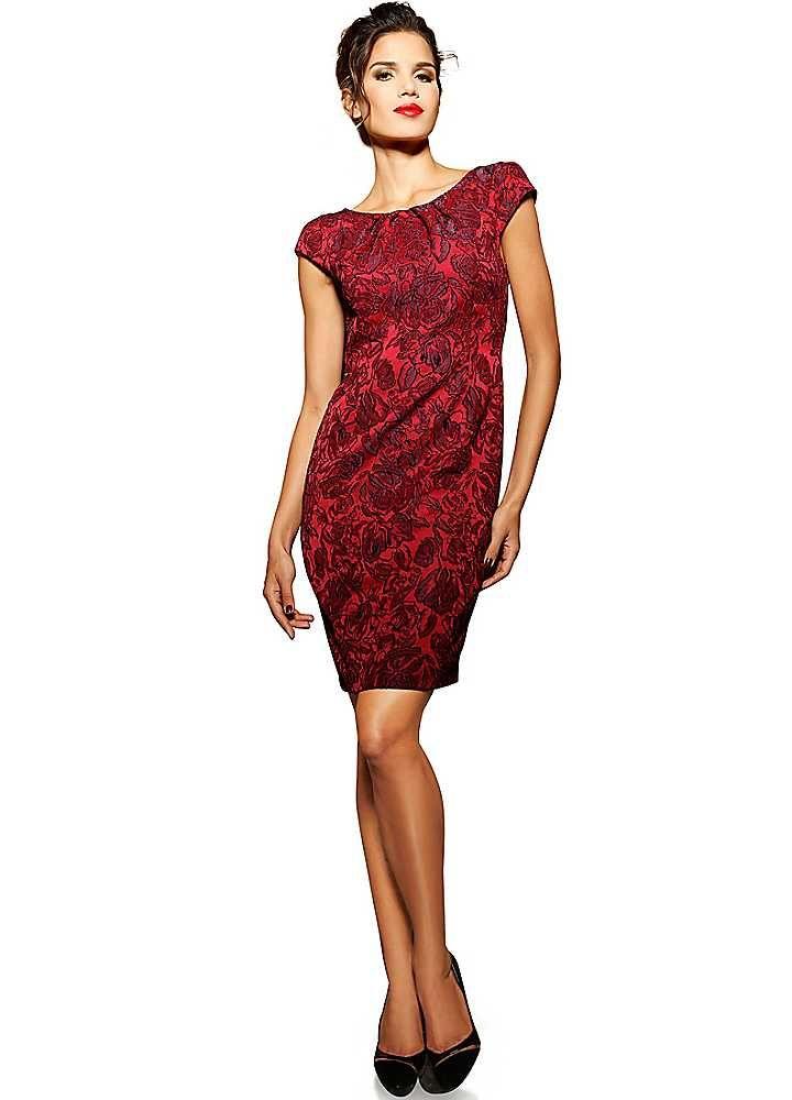 3bb4b19e39c27d Heine Jacquard Dress | Things to Wear | Dresses, Fashion dresses ...
