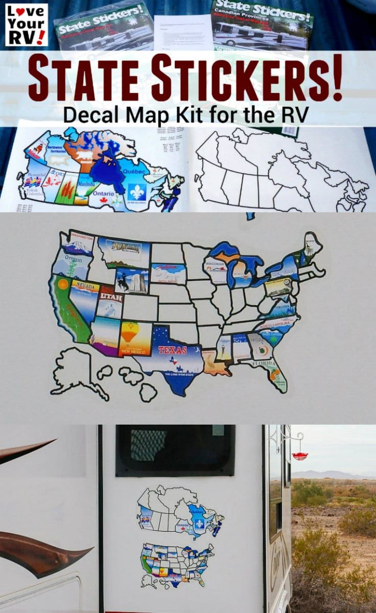 State Stickers Decal Map Kit For