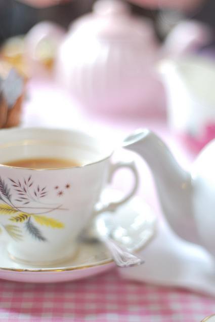 A lovely cup of tea.