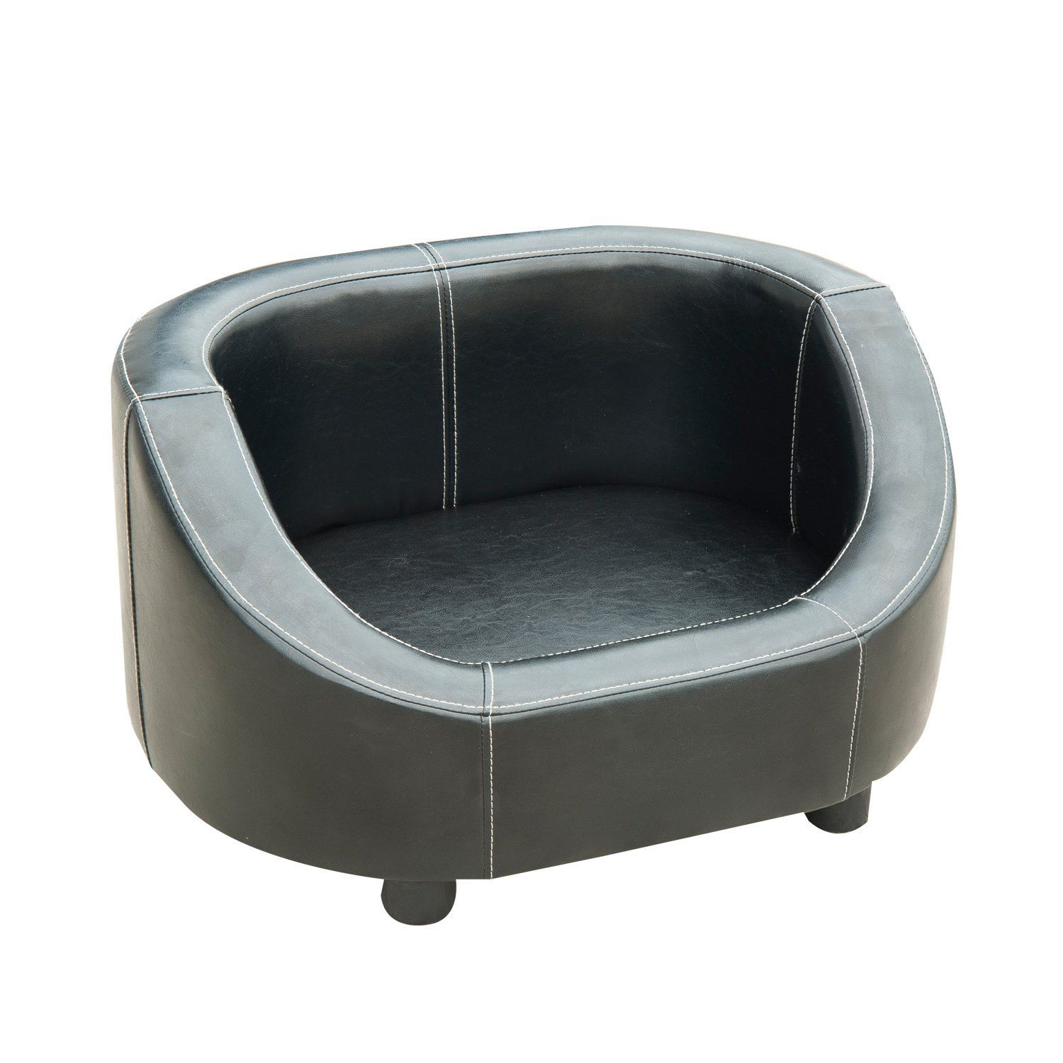Pawhut Deluxe Pu Leather Pet Dog Sofa Bed Black To View Further For This Item Visit The Image Dog Sofa Bed Sofa Bed Black Dog Bed Furniture