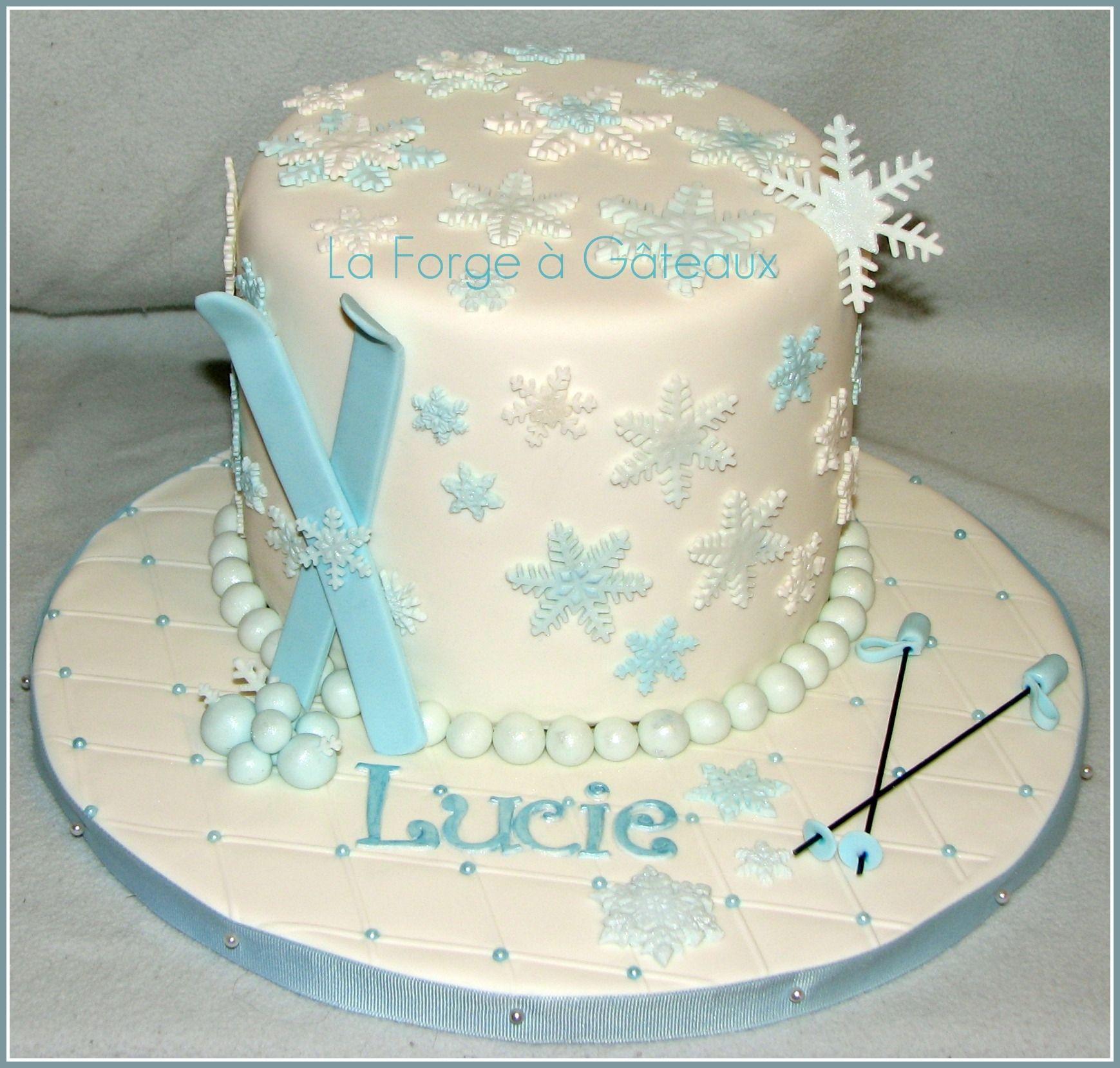 Ski cakehow cool for Emma cool cakes Pinterest Cake Birthday