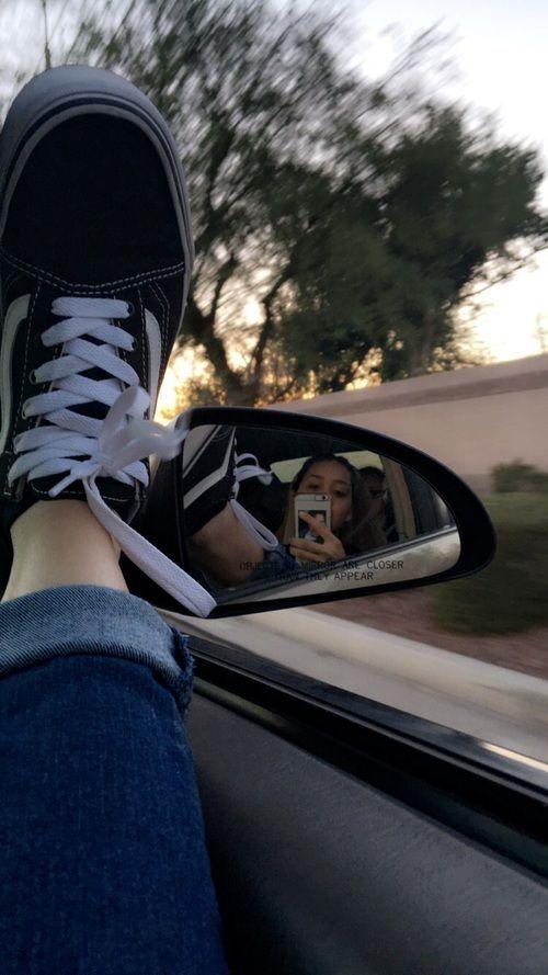 Black And White Mirror Selfie Aesthetic