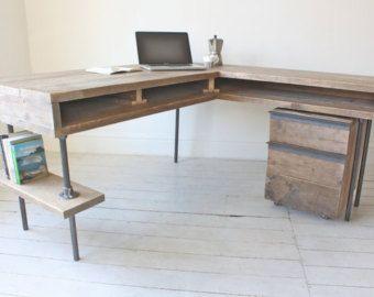corner desk Etsy Furniture Decor I Like Pinterest Desks
